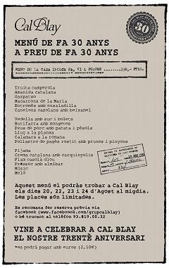 menu de la peseta