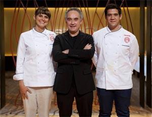 Eva, Juan Manuel y Ferran Adria en MasterChef