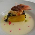 Receta de Gazpachuelo frío con melón a la plancha